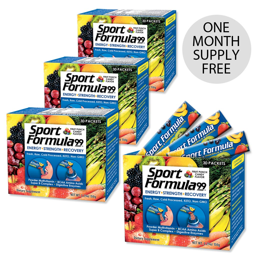 Sport Formula Vitamin Powder Packets Fruit Punch - Buy 3 Get 1 Free