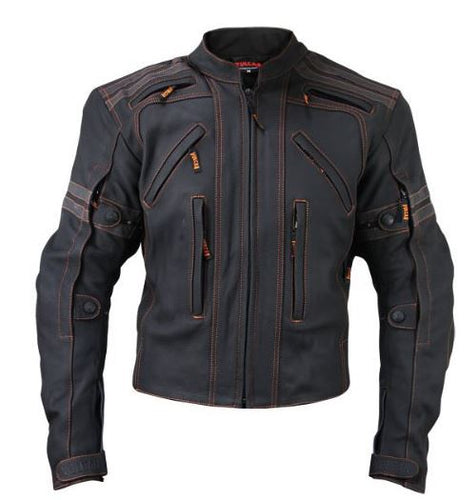 Stylish Men's Vulcan VTZ-910 Motorbike Street Leather Jacket - theleathersouq