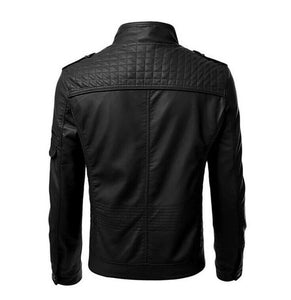 New Men's Black genuine Leather Jacket for men's, Biker Motorcycle cafe racer jacket - theleathersouq