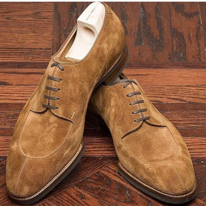 Suede Stylish Lace Up Shoes