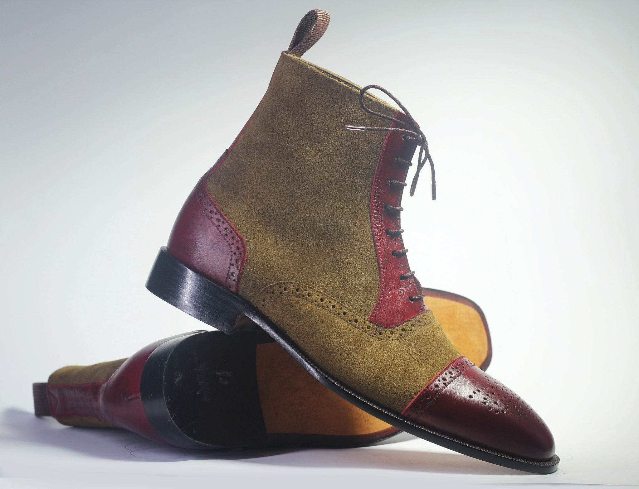 Brown Boots, Men Leather Suede Ankle