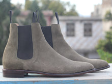 Load image into Gallery viewer, New Handmade Men's brown Suede Chelsea Boots, Men Suede Ankle Boots, Men Designer Boots - theleathersouq