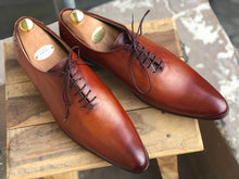 Load image into Gallery viewer, Handmade Men's Brown Wholecut Leather Lace Up Shoes, Men Designer Dress Formal Shoes - theleathersouq