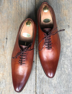 Handmade Men's Brown Wholecut Leather Lace Up Shoes, Men Designer Dress Formal Shoes - theleathersouq