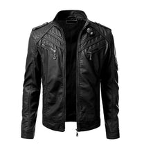 Load image into Gallery viewer, New Men's Black genuine Leather Jacket for men's, Biker Motorcycle cafe racer jacket - theleathersouq