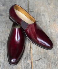 Load image into Gallery viewer, Handmade Men's Burgundy Leather Loafers, Men Designer Dress Formal Luxury Party Shoes - theleathersouq