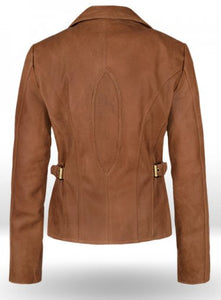 New Stylish Celebrity Leather Brown Jacket For Women, Ladies Leather  Jacket - theleathersouq