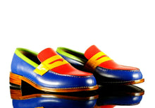 Load image into Gallery viewer, Handmade Men's Multicolor Leather Slipper Party Loafer Shoes, Men Dress Moccasin Shoes