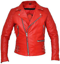 Load image into Gallery viewer, New Women red biker Leather Jacket, stylish women leather jacket - theleathersouq