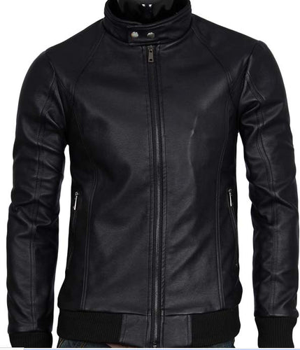 New Men's Black Leather Fashion Jacket, Black Jacket For Men - theleathersouq