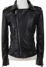 Load image into Gallery viewer, Elegant Fashion Leather Jacket For Women, Black Leather Jacket - theleathersouq