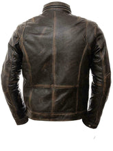 Load image into Gallery viewer, New Men's Vintage Cafe Racer Distressed Retro Biker Genuine Leather Jacket - theleathersouq
