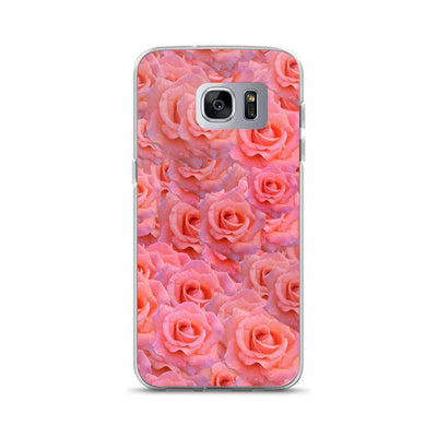 Samsung Galaxy S7 Edge Light Pink Flower Pattern | Samsung Galaxy S8 Case luxeideal cute pretty cool cases and covers for girls