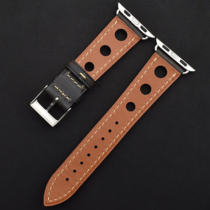 Holed Leather Bands For Apple Watch Series 1, 2, 3, 4 & 5 - 38/40mm - 42/44mm - Troogears