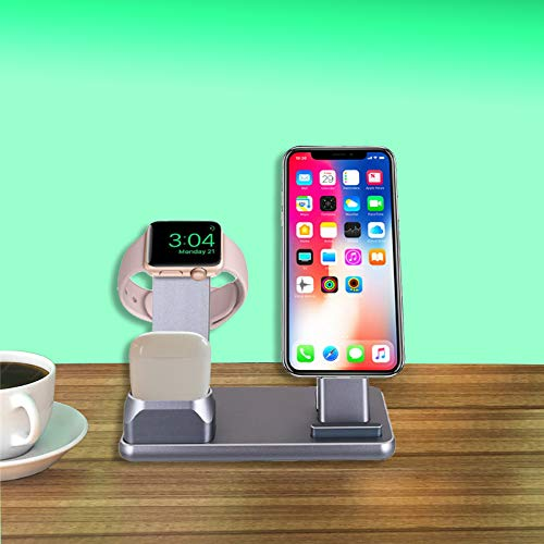 Apple iPhone 3-in-1 Aluminum Charging Dock/Stand/Station-NatoGears - Troogears