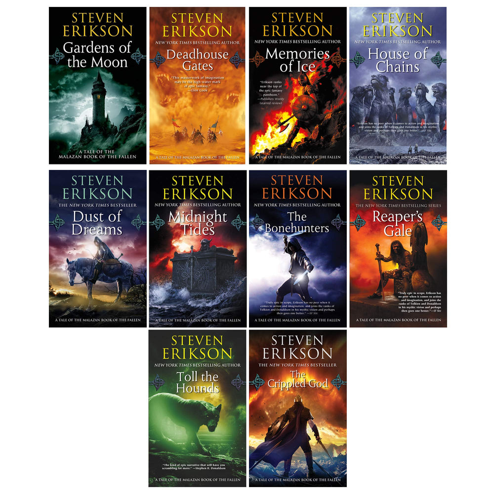 Steven Erikson 10 Book Collection Set (Vol. 1-10) (The Malazan Book of the Fallen): - Troogears