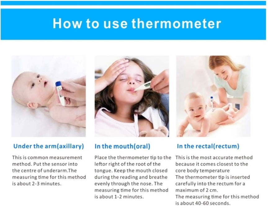 Digital LCD Oral Medical Thermometer For Baby Kids Adults Health Fever FDA Compliant! - Troogears