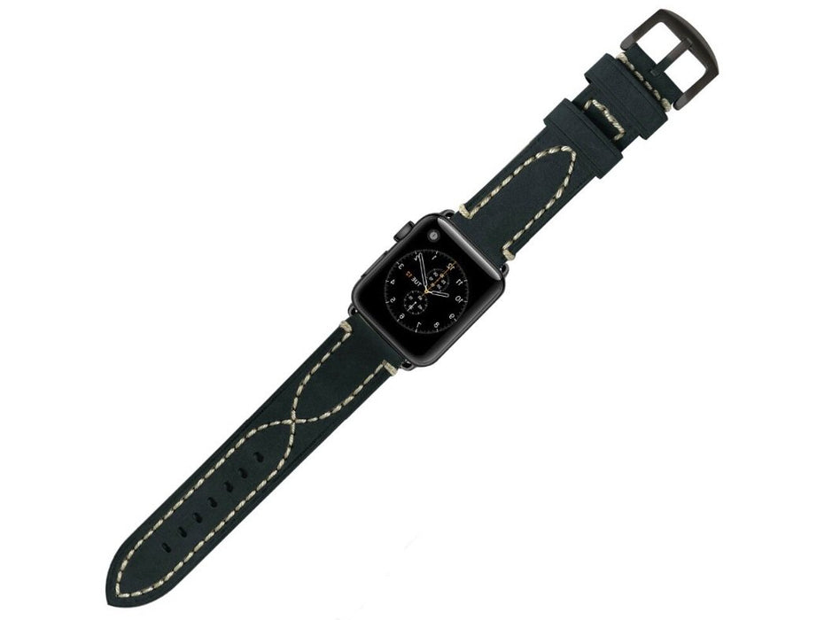 Calf Skin Apple Watch Leather Band- Apple Watch Series 1, 2, 3, 4 & 5 42/44mm - Troogears