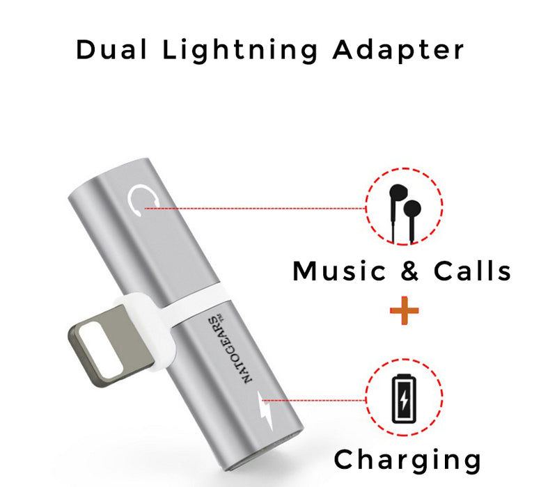 iPhone Audio & Charger Adapter- Earphone-Charger Adapter - Troogears