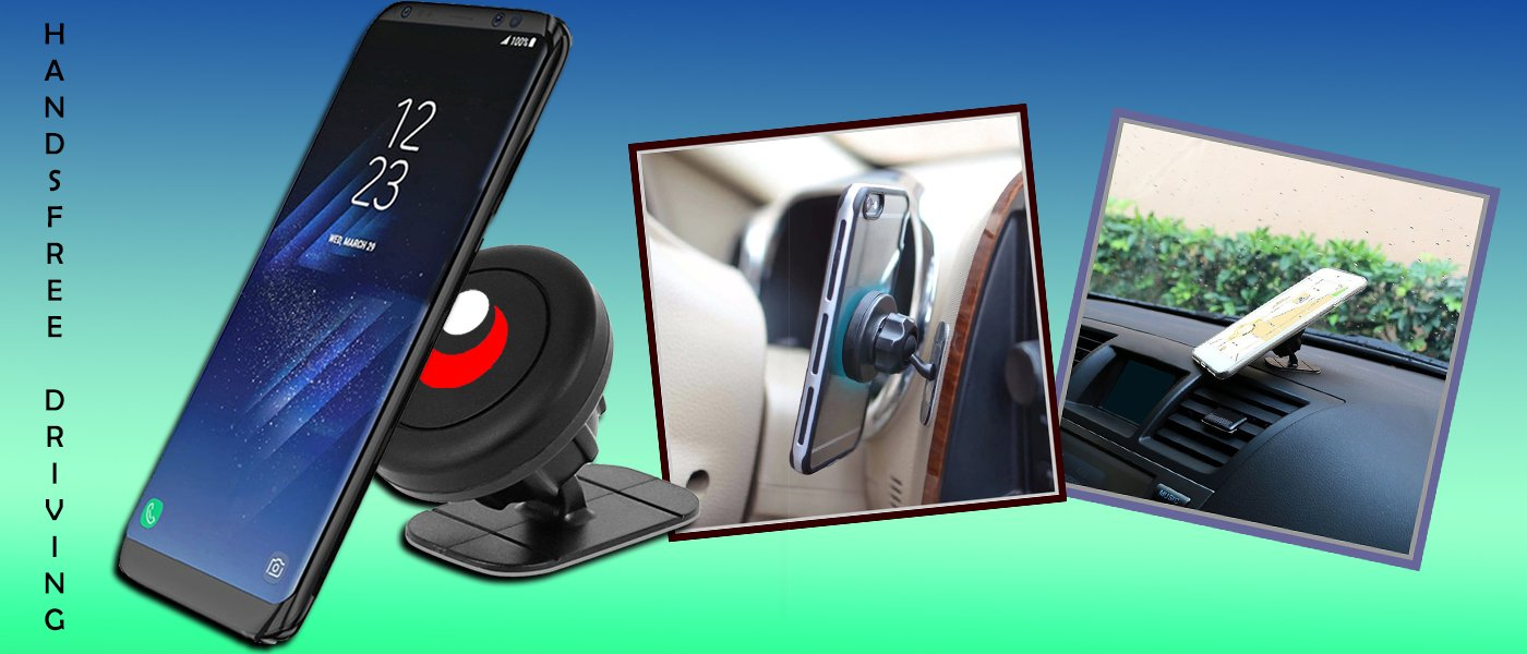 Target Gear Smart Mount - Universal Stick On Magnetic Car Mount Holder for Cell Phones - Troogears