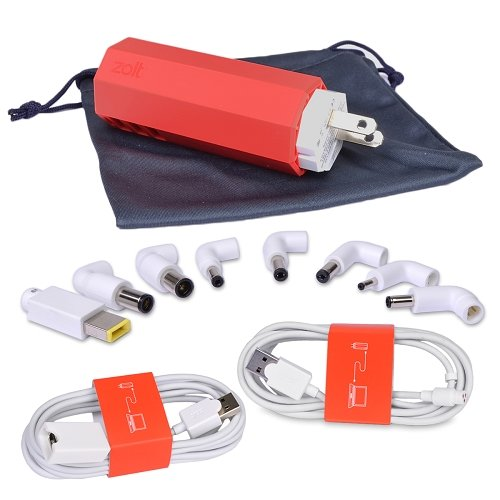 Zolt 70W Portable Laptop AC Charger Plus Kit w/8 Power Tips USB - Troogears