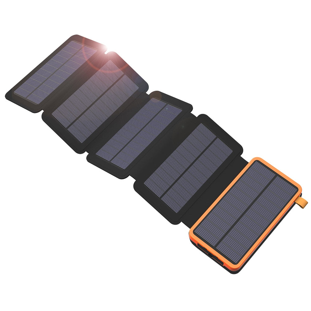 Waterproof 20000mAh Solar Power Bank Dual USB  Solar Charger All Smartphones - Troogears