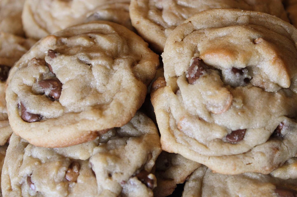 Combination peanut butter chip chocolate chip cookies