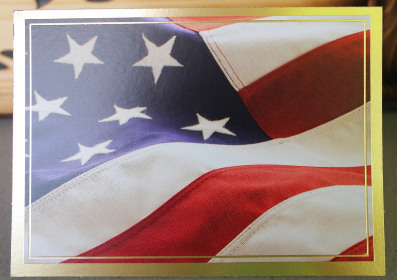 Patriotic U.S.A. Flag Card
