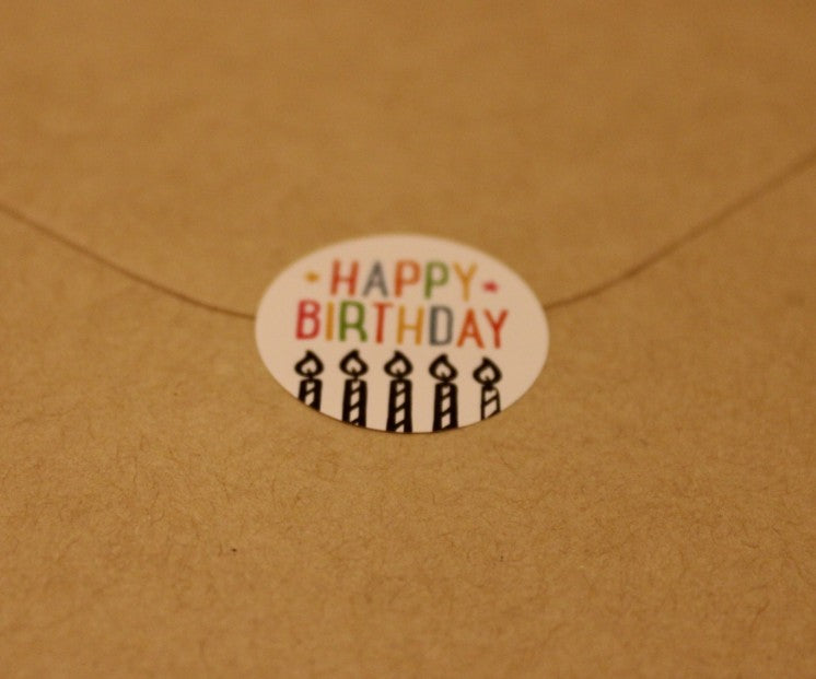 "Colorful ""Happy Birthday"" Card"