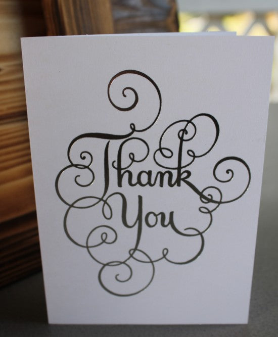 "White ""Thank You"" Card"