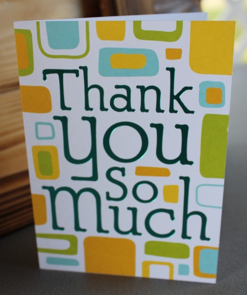 """Thank You So Much"" Card"