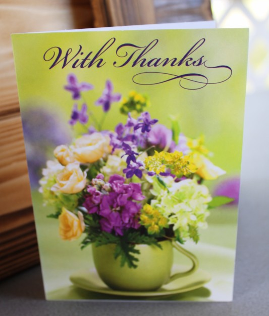 "Flower ""Thank You"" Card"