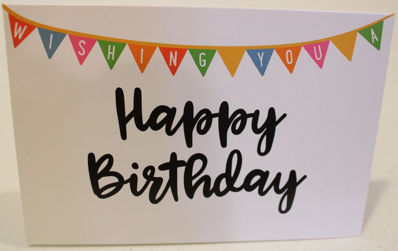 """Wishing You A Happy Birthday"" Pennant Card"