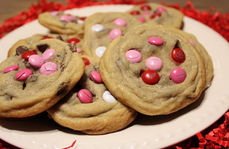 Angie's Valentine's Day M&M & Chocolate Chip Cookies
