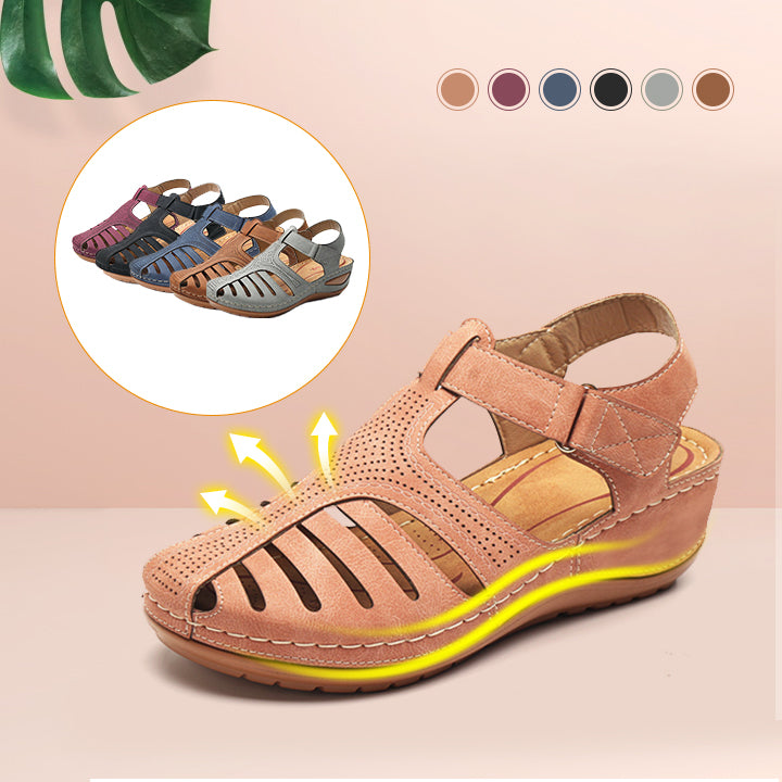 Women Comfy Hook Loop Wedges Walking Sandals