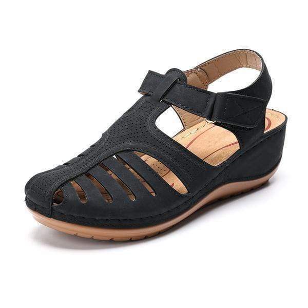 Women Comfy Hook Loop Wedges Walking Sandals - getanne