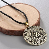 Veg-Visir, , VALKNUT WITH RUNIC CIRCLE AND CELTIC KNOT NECKLACE, Jewels, Jewelry, Vikings, Norse - Veg-Visir