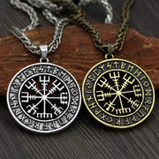 VEGVISIR WITH RUNIC CIRCLE NECKLACE - Veg-Visir