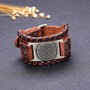 LEATHER BUCKLE BRACELET - VEGVISIR - Veg-Visir