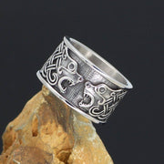 Veg-Visir, , 316L STAINLESS STEEL BEAR WITH CELTIC KNOTS RING, Jewels, Jewelry, Vikings, Norse - Veg-Visir