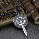 Veg-Visir, , SWORD WITH SHIELD NECKLACE, Jewels, Jewelry, Vikings, Norse - Veg-Visir