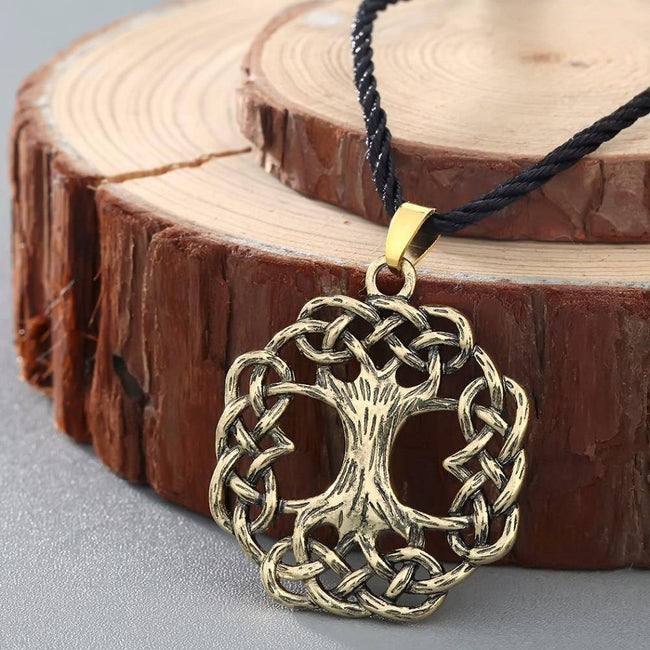 Veg-Visir, , TREE OF LIFE WITH CELTIC KNOT  NECKLACE, Jewels, Jewelry, Vikings, Norse - Veg-Visir
