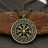 VEGVISIR WITH RUNIC CIRCLE NECKLACE Gold | Metal Veg-Visir  veg-visir.myshopify.com Veg-Visir