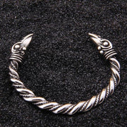 veg-visir, , 316L STAINLESS STEEL RAVEN BANGLE BRACELET, Jewels, Jewelry, Vikings, Norse - Veg-Visir