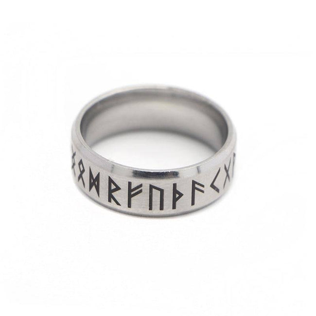 veg-visir, , 316L STAINLESS STEEL RUNIC CIRCLE RING, Jewels, Jewelry, Vikings, Norse - Veg-Visir