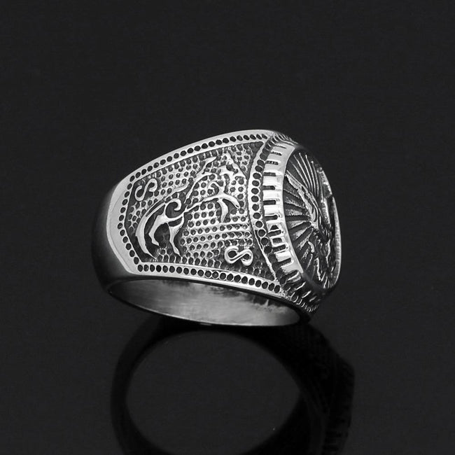 Veg-Visir, , 316L STAINLESS STEEL NORSE RAVEN RING, Jewels, Jewelry, Vikings, Norse - Veg-Visir