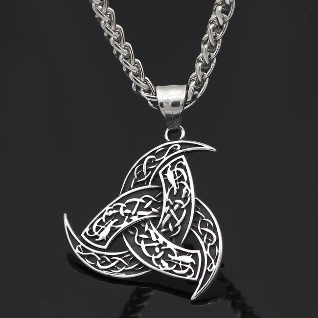 Veg-Visir, , HORNED TRISKELE NECKLACE, Jewels, Jewelry, Vikings, Norse - Veg-Visir