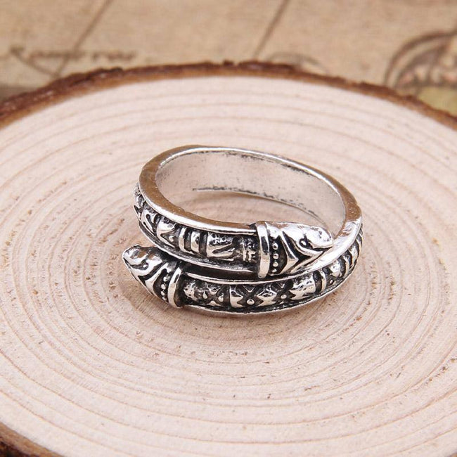 Veg-Visir, , 316L STAINLESS STEEL DRAGON HEAD RING, Jewels, Jewelry, Vikings, Norse - Veg-Visir