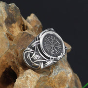 316L STAINLESS STEEL NORSE VEGVISIR WITH DRAGON RING - Veg-Visir