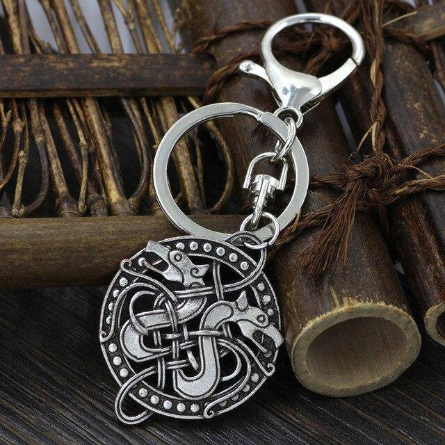 Veg-Visir, , TWIN WOLVES KEYCHAIN, Jewels, Jewelry, Vikings, Norse - Veg-Visir